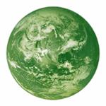 Weltkugel grün
